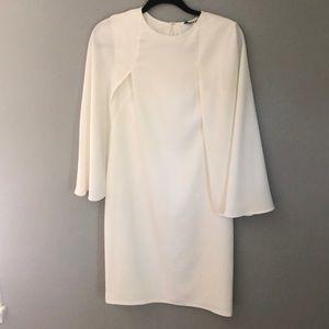 White Caped Dress